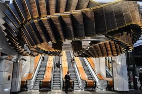اثری هنری در ایستگاه مترو در سیدنی استرالیا