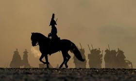 باز سازی جنگ ناپلئون در استرالیتز در اسلواکی در جمهوری چک