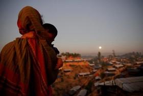 ابرماه در اردوگاه آوارگان روهینگیا در بنگلادش