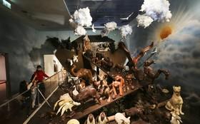 کشتی نوح شکلاتی در موزه شکلات در استانبول ترکیه