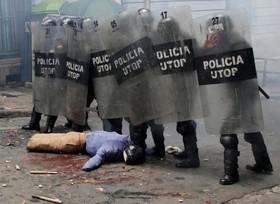 تظاهرات دانشجویان پزشکی در لاپاز بولیوی