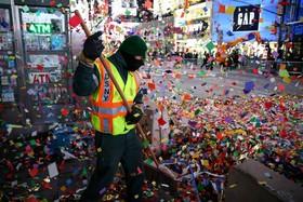 میدان تایمز نیویورک پس از سال نو