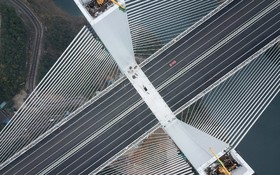پل تازه سازی که مسیر دو شهر در جنوب غرب چین را کوتاه می کند