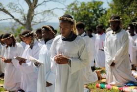 مراسم مذهبی مسیحیان  آفریقای جنوبی در دوربان
