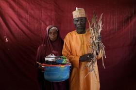 خانواده آواره از جنگ گروه تروریستی بوکوحرام در نیجریه