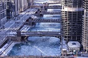 سرمای شدید و زیر 20 درجه سانتیگراد در شیکاگوی آمریکا