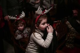مراسم مذهبی مسحیان فلسطینی به مناسبت سال نو در غزه