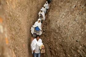 مراسم مذهبی مسحیان به مناسبت سال نو در اتیوپی