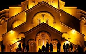مراسم مذهبی سال نو در تفلیس در گرجستان