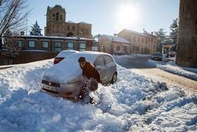 برف سنگین در اسپانیا