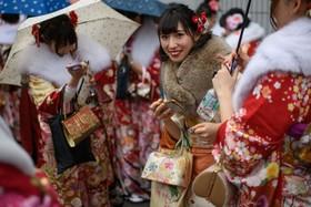 جشن بیست سالگی در یوکوهامای ژاپن