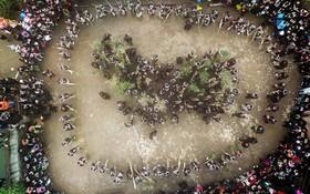 مراسم جشن در منطقه قوم مایو در گینزو در چین