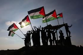 تظاهرات فلسطینی ها در خان یونس