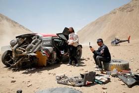 تصادف یک شرکت کننده در مسابقه داکار در پرو