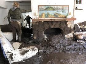 سیل و تخریب مناطق مسکونی در کالیفرنیای آمریکا