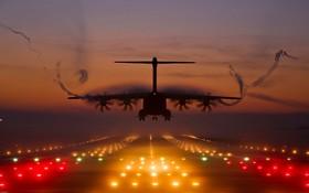 فرود یک ایرباس آ 4100 ام