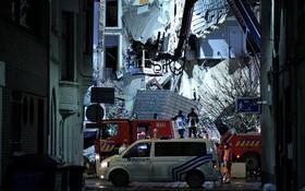 صحنه انفجار در بروکسل بلژیک