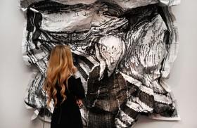 نمایشگاه نقاشی در لندن و عرضه تابلو برداشت جدیدی از تابلو فریاد ونسان ونگوگ
