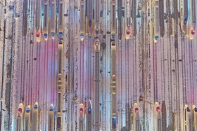 ایستگاه قطار های سریع در چین همزمان با سال نو چینی که در طول چهل روز جشن عید دو میلیارد و 980 میلیون سفر انجام می شود