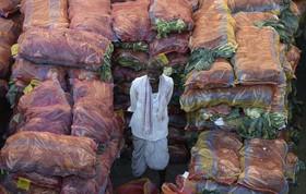 بازار سبزی فروش ها در کلکته هند