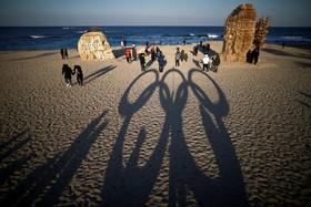 تزئینات المپیک زمستانی در ساحلی در کره جنوبی