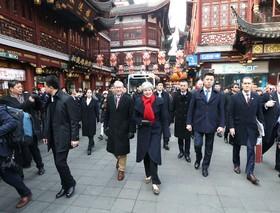 ترزای می نخست وزیر انگلیس در شانگهای چین