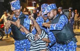 تظاهرات مخالفان در مالدیو