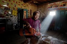 روستایی اویغور در روستایی در چین