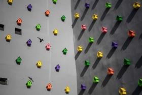 اثری هنری در استانبول ترکیه و لاه های پرنده رنگا رنگ روی بدنه یک آپارتمان