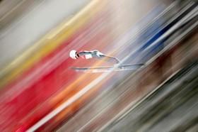 صحنه ای از مسابقات المپیک زمستانی پیونگ چانگ در کره جنوبی
