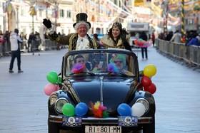 کارناوال رانندگی با خودرو های قدیمی در کرواسی به نام پاریس باکار