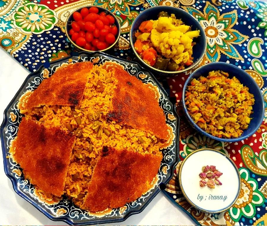 Image result for ?لوبیا پلو شیرازی?