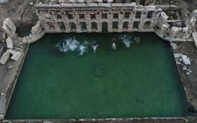 حمام قدیمی دو هزار ساله رومی در سریکایا در ترکیه