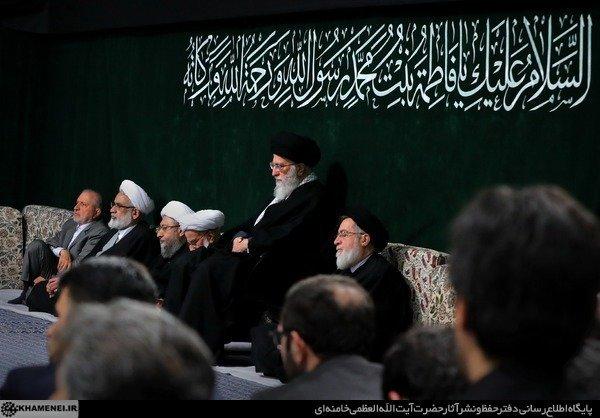 دومین شب مراسم عزاداری حضرت زهرا (س) با حضور رهبر انقلاب برگزار شد
