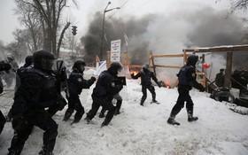 حمله نیروهای ضد شورش در اوکراین به حامیان میخائل ساکاشویلی