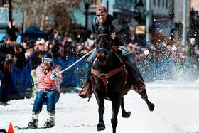 مسابقات اسکی سواری با اسب در کلورادو آمریکا