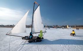 بازی روی یخ در جنوب آلمان