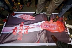 تظاهرات علیه ترامپ در کلکته هند