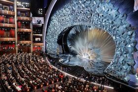 صحنه برنامه جایزه اسکار در لوس آنجلس آمریکا