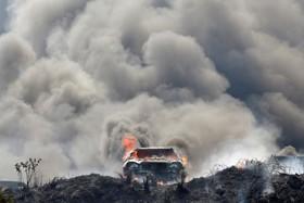 پلیس گواتمالا ماشینهای توقیف شده از قاچاقچیان را آتش زده است