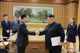 دیدار کیم جونگ اون رهبر کره شمالی با نماینده ویژه کره جنوبی و ادامه تلاش برای اتحاد  دو کره