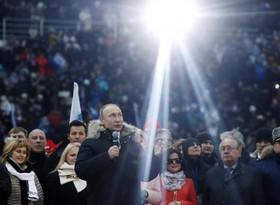 گردهمایی تبلیغاتی ولادیمیرپوتین برای انتخابات پیش رو