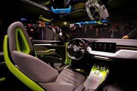 عکس هایی از نمایشگاه خودرو ژنو:داخل ماشین ویژیون ایکس اشکودا