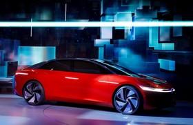 عکس هایی از نمایشگاه خودرو ژنو:نمایی دیگر از خودور آی دی ساخت فولکس که برقی است