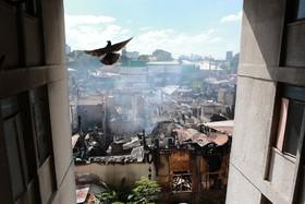 آتش سوزی در زاغه نشینی در فلیپین