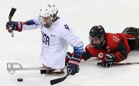 بازی های پارا المپیک در کره شمالی و تصویری از بازی هاکی روی یخ