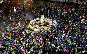 جشنی در فرانکفورت با نمایش نور و صدا  در آلمان