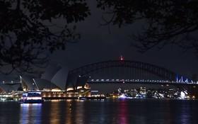 منظره ای از پل سیدنی و تالار اوپرای این شهر در استرالیا