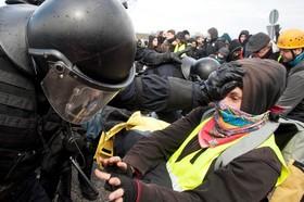 تظاهرات حامیان استقلال کاتالونیا در اسپانیا