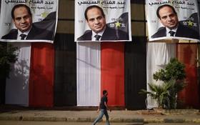 انتخابات مصر و تبلیغات برای رئیس جمهوری فعلی السیسی